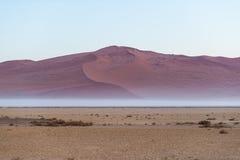 Sanddyn i den Namib öknen på gryning, roadtrip i den underbara Namib Naukluft nationalparken, loppdestination i Namibia, Afr Arkivfoton