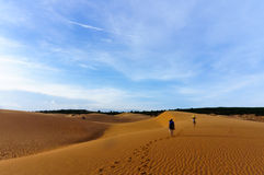 Sanddyn i Mui ne, Phan thiet, Vietnam Arkivbilder
