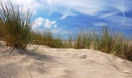 Sanddyn och himmel arkivfoton