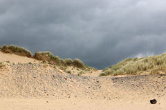 Sanddyn på den Aberavon stranden Arkivfoto