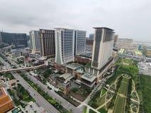 Sande Cotai-Zentrale in Macao mit Ansicht vom Pariser Eiffelturm stockfotos