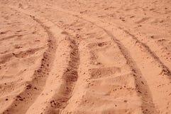 Sande einer Wüste Stockfotos
