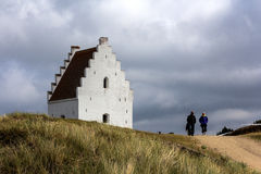 The sanded church in Skagen Royalty Free Stock Photos