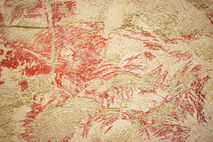 Sanded dark old red plaster Royalty Free Stock Images