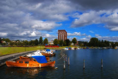 Sandefjord. As seen from boat bay area Stock Images