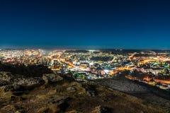 Sandefjord nachts Mokollen Lizenzfreies Stockfoto