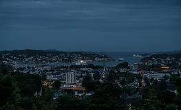 Sandefjord by Night royalty free stock images