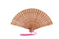 Sandel-wood fan, isolated Stock Photo