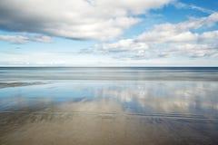 Sandend strand Fotografering för Bildbyråer