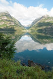 Sandevatnet perto de Odda, Noruega Foto de Stock