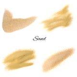 Sandfärgstänk eller sand exploderar Arkivfoton
