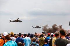 SANDF军事在机场显示 免版税库存照片