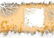 Sandfarbe, grunge mit Blumen Stockbild