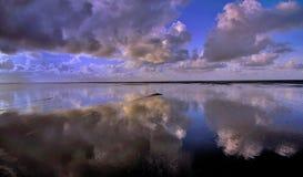 Sandflats reflections Royalty Free Stock Photos