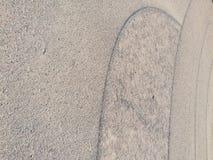 Sandformen gerundet Lizenzfreies Stockbild