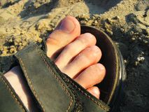 Sandfußbekleidung Stockfotos
