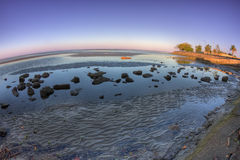 Sandgate fisheye, Queensland, Australia Stock Photo