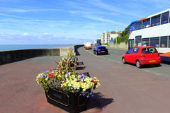 Sandgate promenad Folkestone Kent UK Royaltyfria Bilder