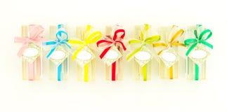 Sandglas übertragen für Geschenk Stockbild