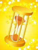 Sandglass auf Glanzleuchtehintergrund Lizenzfreies Stockfoto