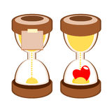 Sandglass deadline time  Royalty Free Stock Photos