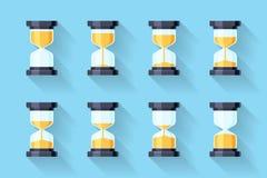 Sandglass flat icons vector. Animation frames Stock Photo