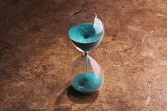 Sandglass, hourglass with sand Royalty Free Stock Image