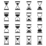 Sandglass and hourglass vector icons Royalty Free Stock Photo