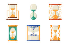 Sandglass icon time flat design history second old object and sand clock hourglass timer hour minute watch countdown vector illustration