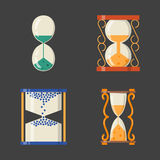 Sandglass icon time flat design history second old object and sand clock hourglass timer hour minute watch countdown. Flow measure vector illustration stock illustration