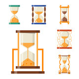 Sandglass icon time flat design history second old object and sand clock hourglass timer hour minute watch countdown. Flow measure vector illustration vector illustration