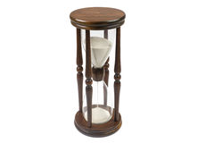 Sandglass isolated on white background. Wooden sandglass, hourglass isolated on a white background Stock Images