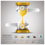Sandglass Money And Financial Business Infographic. Design Template Stock Illustration
