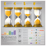 Sandglass Money And Financial Business Infographic Royalty Free Stock Images