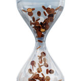 Sandglass with money Stock Photography