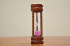 Sandglass pink sand insite timer Stock Photos