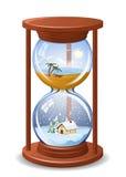 Sandglass saisonniers Photo stock