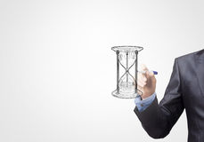 Sandglass sketch Royalty Free Stock Photography