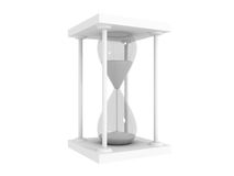 Sandglass time concept on a white background Stock Image