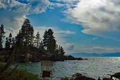 Sandhamnstranden parkerar på Lake Tahoe Arkivfoto