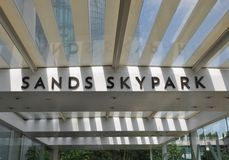 Sandhimmel parkerar Singapore Arkivbild