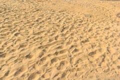 Sandhintergründe und -beschaffenheit mit Abdrücken. an Sam-PAM-bok Ub Stockbild