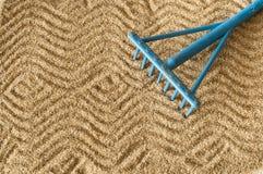 Sandhintergrund Stockfoto