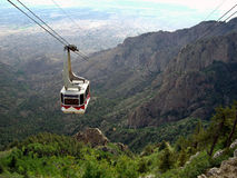 Sandia Mountain Cable Car stock photo