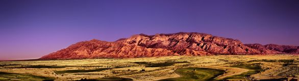 Sandia Mountains in Albuquerque NM Stock Photo