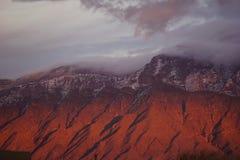 Sandia mountain sunset Royalty Free Stock Images