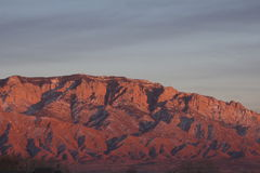 Sandia mountains sunset Royalty Free Stock Photography