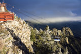 Sandia Mountains Tramway Stock Image