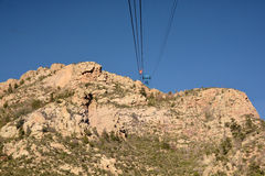 Sandia Mountains Tramway Royalty Free Stock Photo