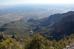 Sandia Mountains Tramway Royalty Free Stock Photography